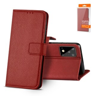 Reiko 3-In-1 Wallet Case for SAMSUNG GALAXY S20 ULTRA (Red)