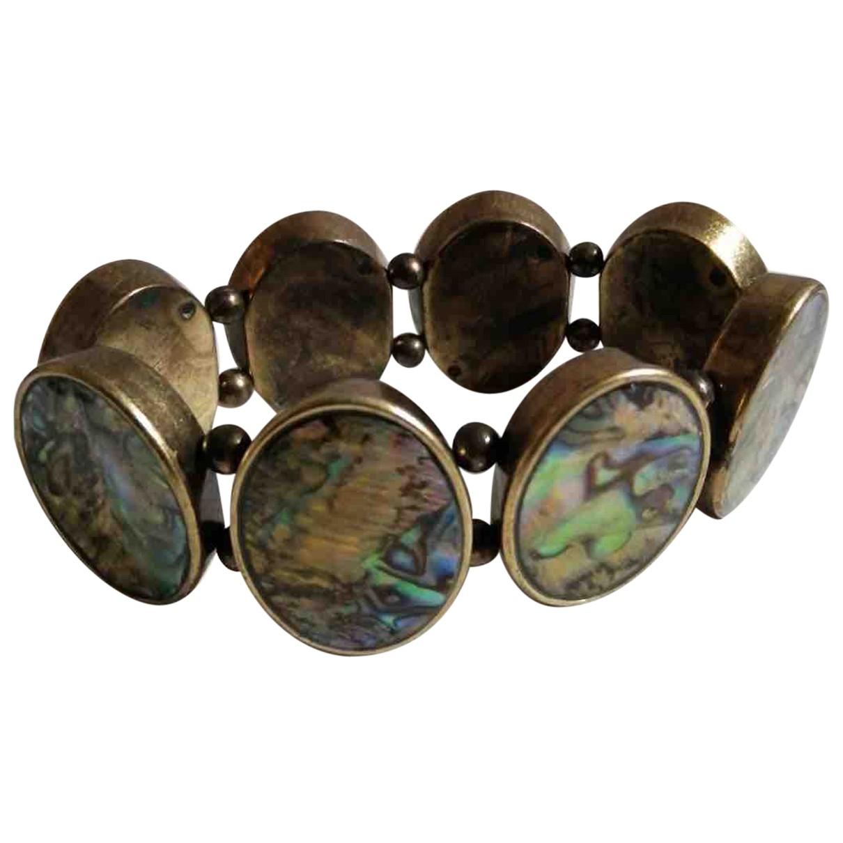 Non Signe / Unsigned Nacre Armband in  Gruen Metall