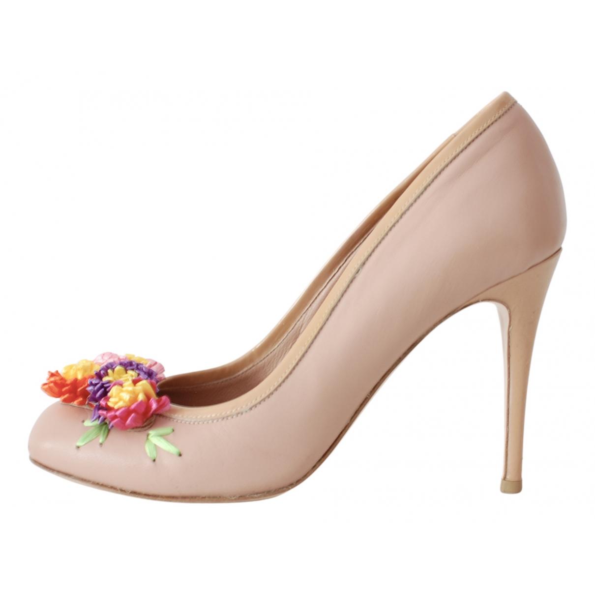 Valentino Garavani N Pink Leather Heels for Women 36 IT
