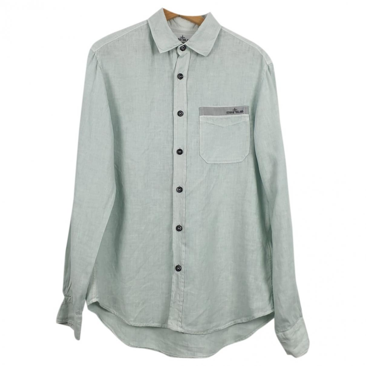 Stone Island \N Turquoise Linen Shirts for Men S International