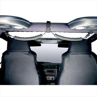 Rugged Ridge Dual Center Sports Bar Grab Handle Strap (Black) - 13305.05