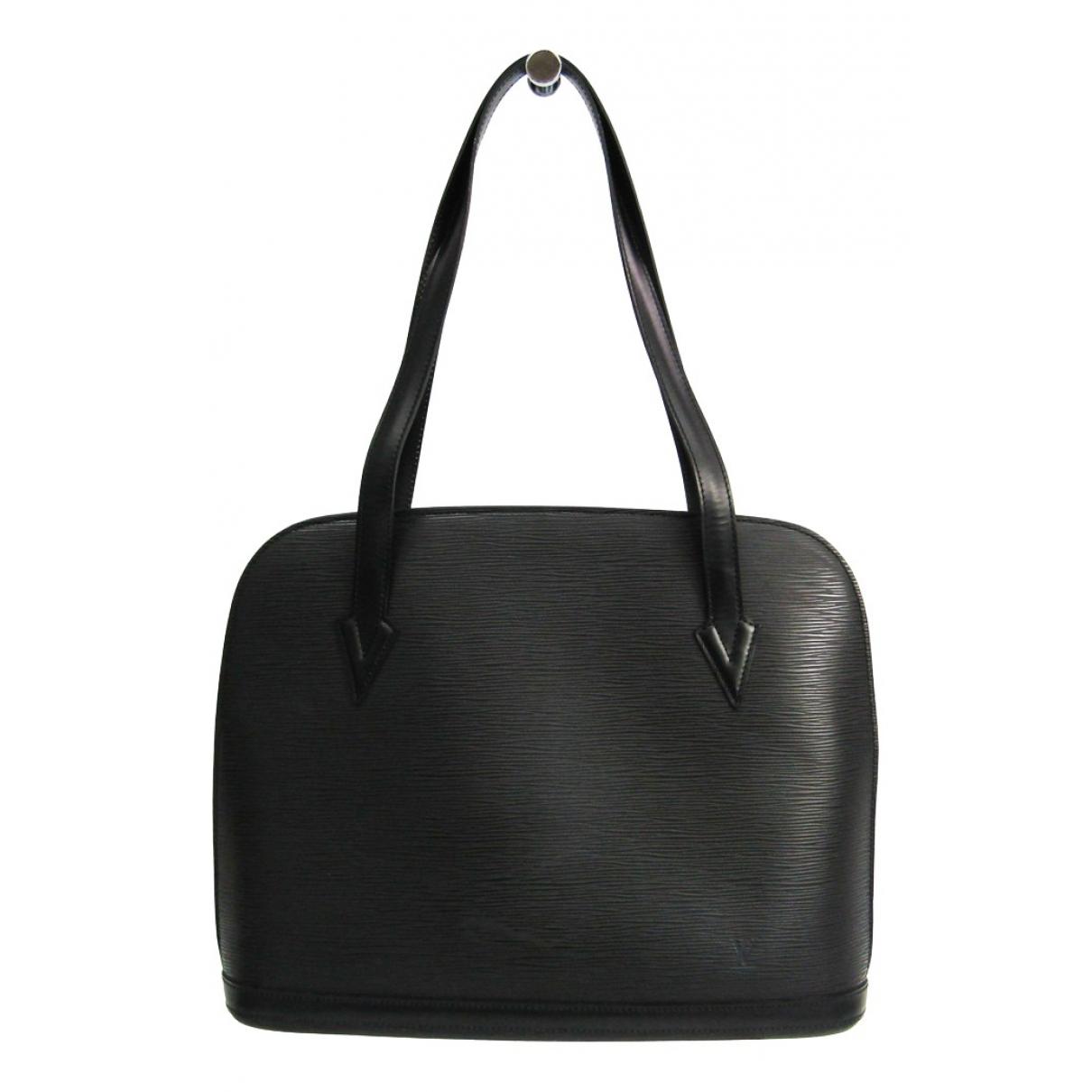 Louis Vuitton Lussac Black Leather handbag for Women \N