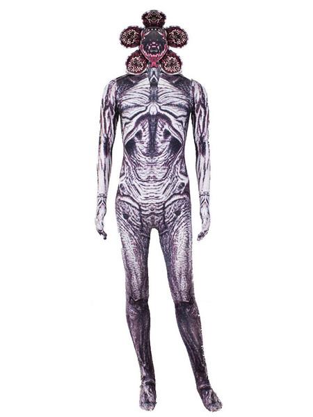 Milanoo Stranger Things Demogorgon Disfraz de Cosplay de Halloween Zentai Suit Mono