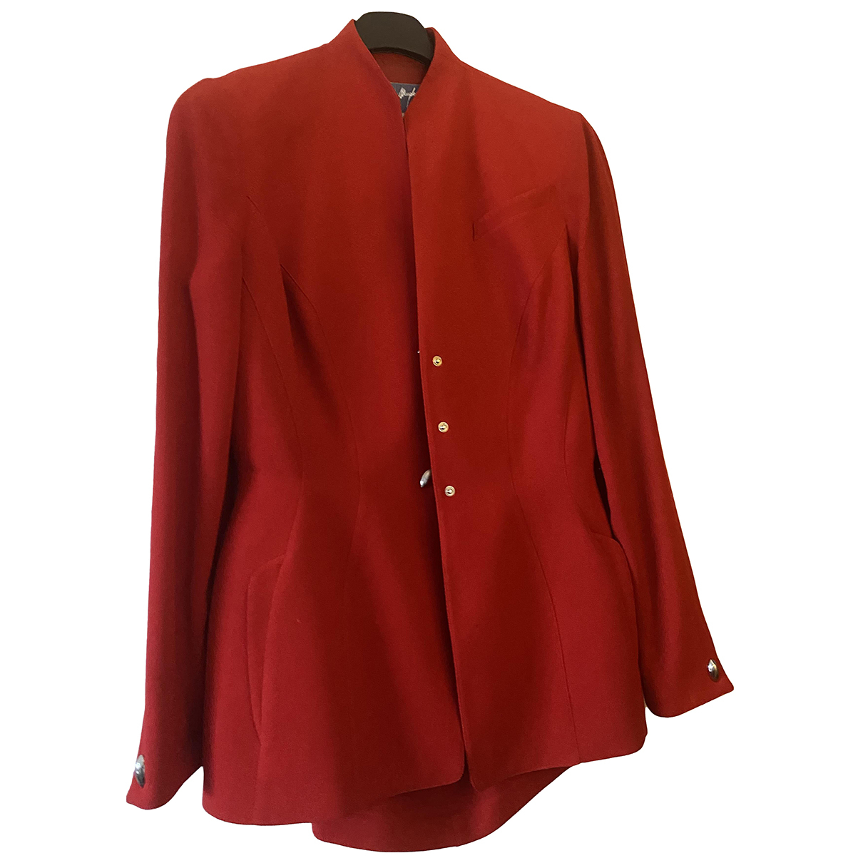 Thierry Mugler \N Red Wool jacket for Women 42 FR