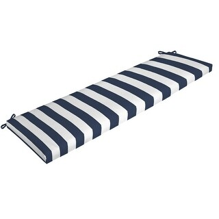 Arden Selections Outdoor 17 x 46 in. Bench Cushion (Sapphire Cabana Stripe - 17 in L x 46 in W x 3 in H)