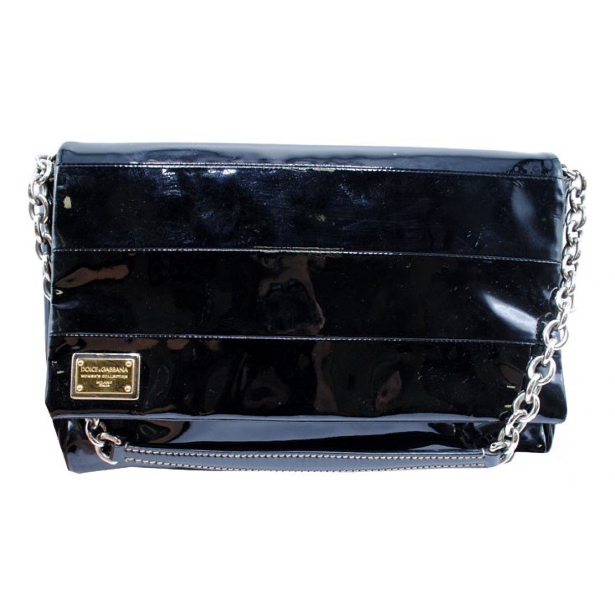 Dolce & Gabbana \N Black Patent leather Clutch bag for Women \N