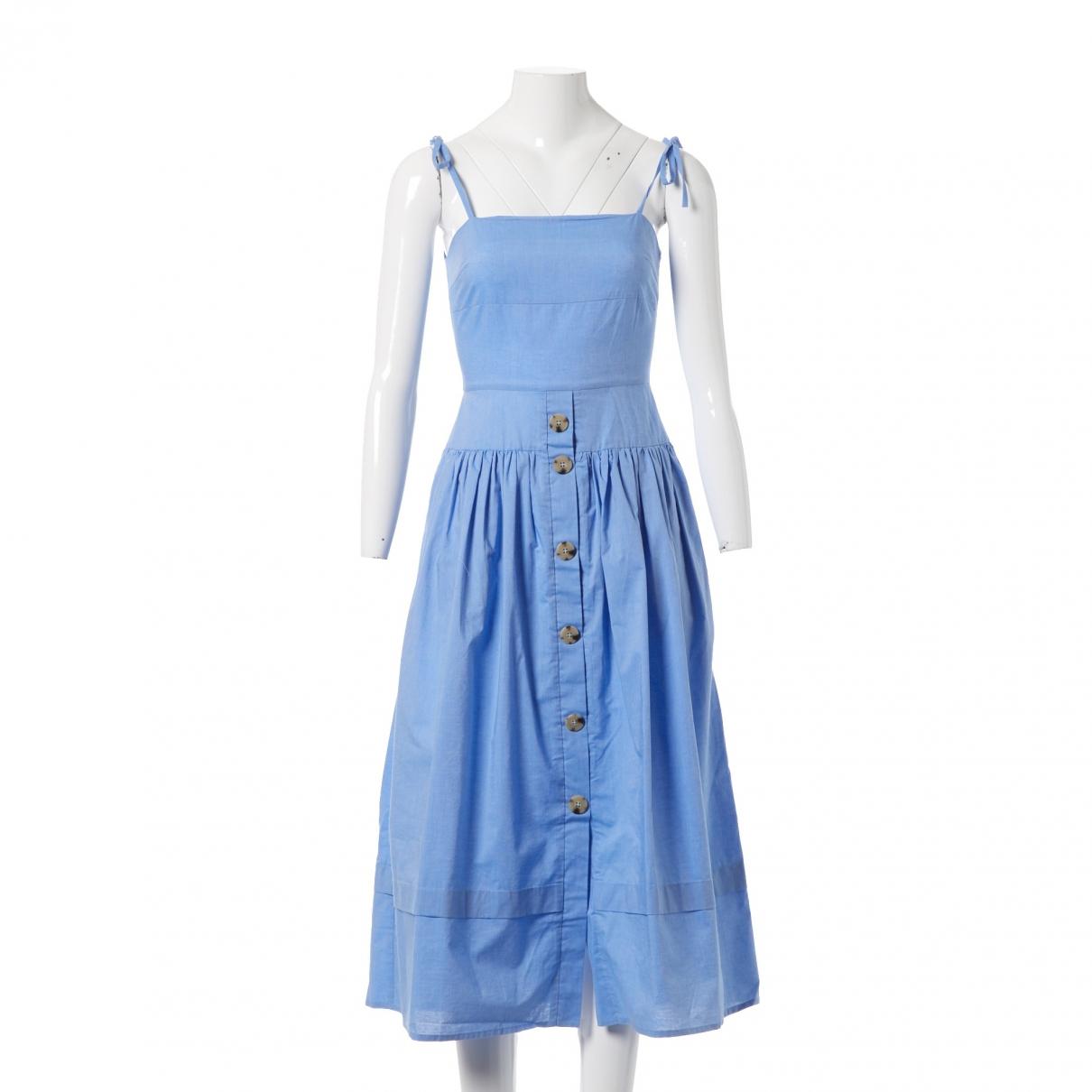 Rejina Pyo X Vestiaire Collective \N Blue Cotton dress for Women 8 UK