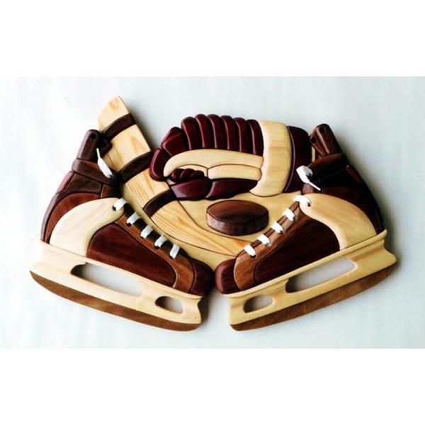 Hockey Skates Intarsia Pattern