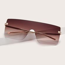 Sonnenbrille mit flachem Schaft