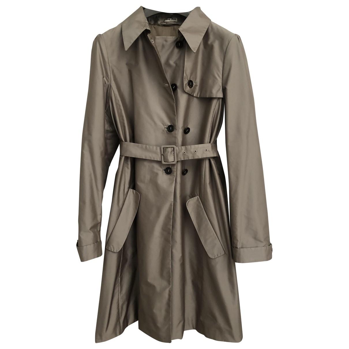 Miu Miu \N Grey Trench coat for Women 42 IT