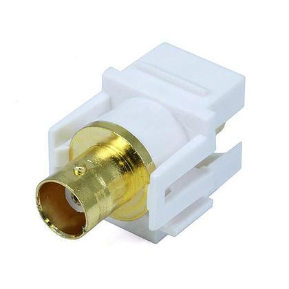 Jack keystone modulaire BNC - blanc - Monoprice®