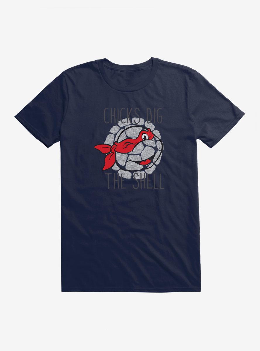 Teenage Mutant Ninja Turtles Raphael Chicks Dig The Shell T-Shirt