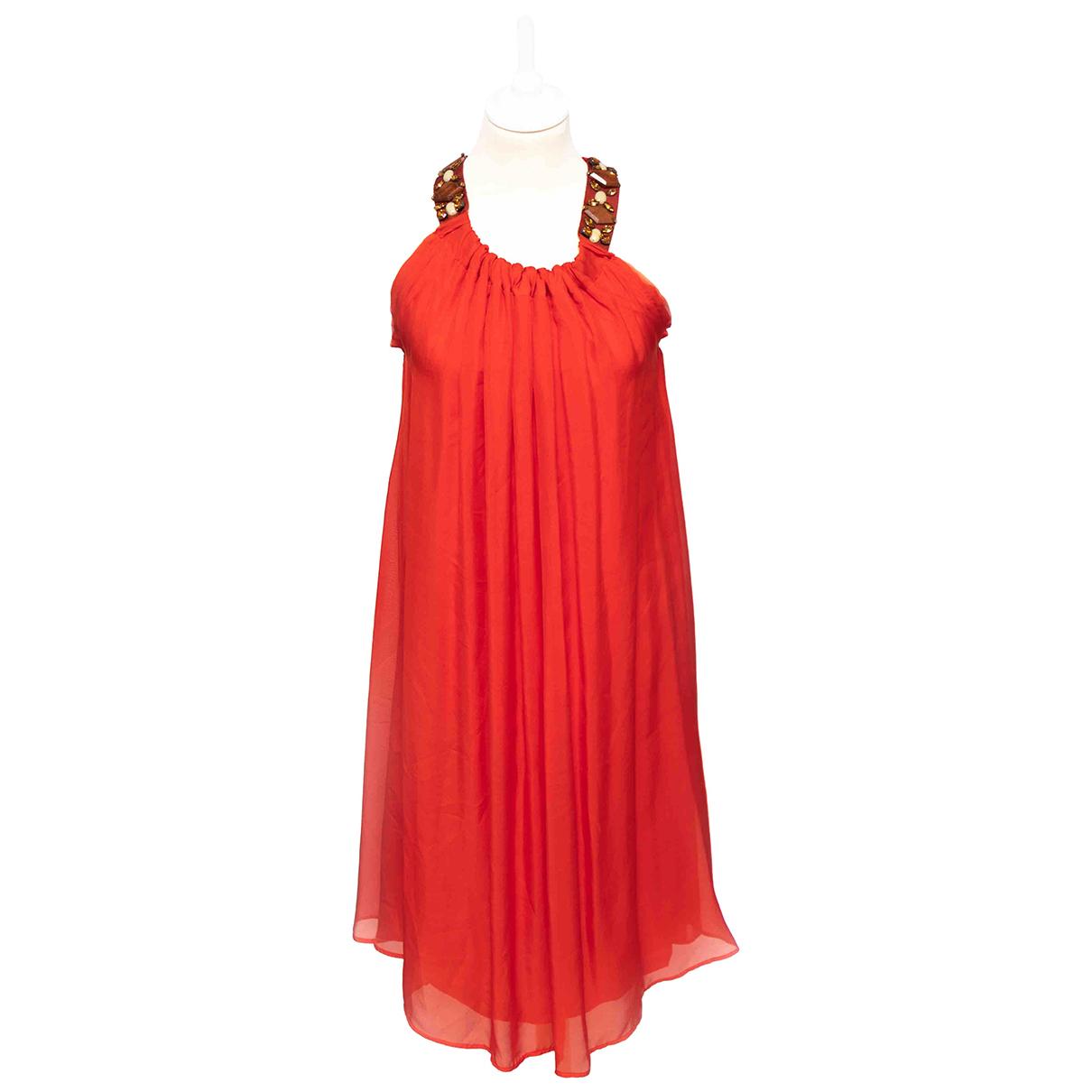 Lanvin \N Kleid in  Rot Seide