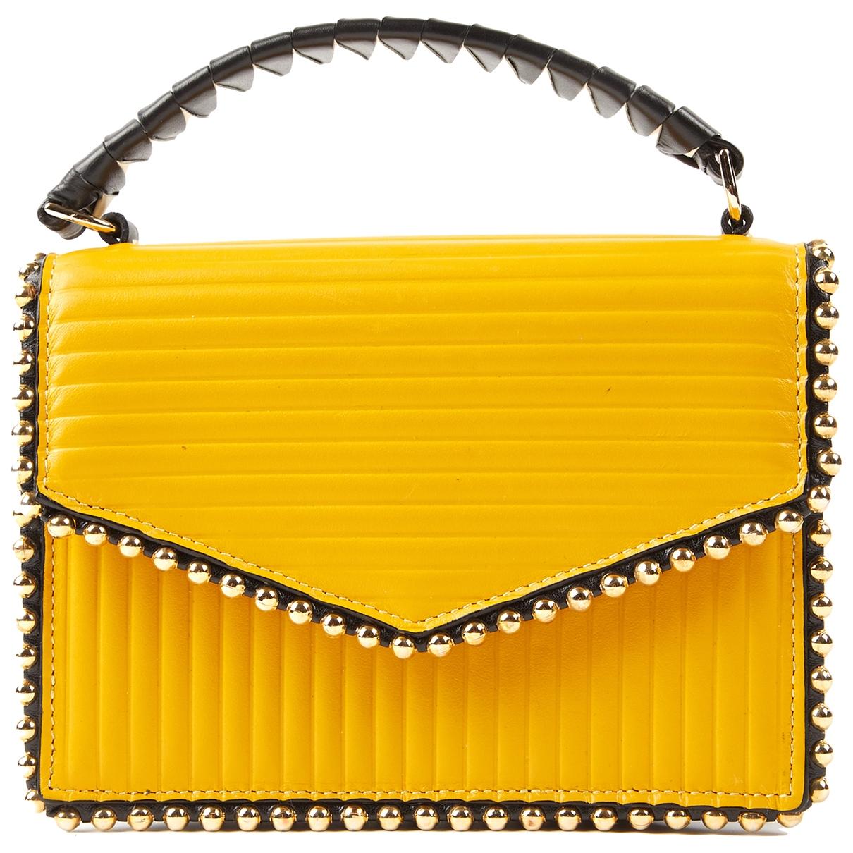 Les Petits Joueurs \N Handtasche in  Gelb Leder