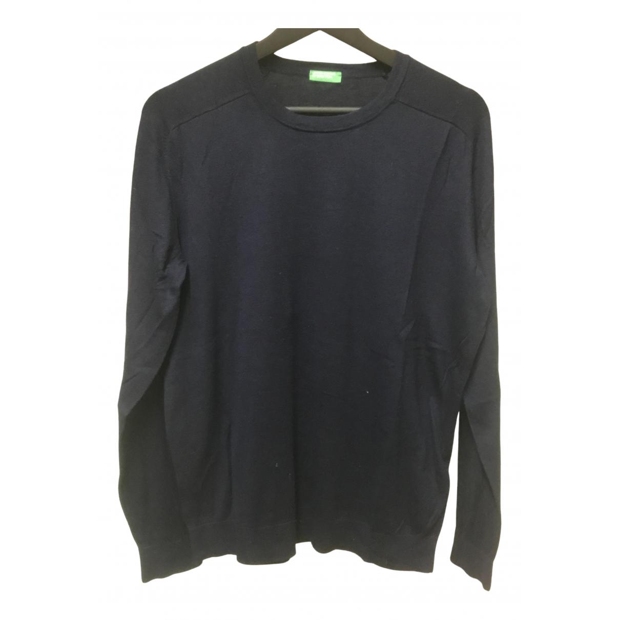 Benetton \N Pullover.Westen.Sweatshirts  in  Blau Viskose