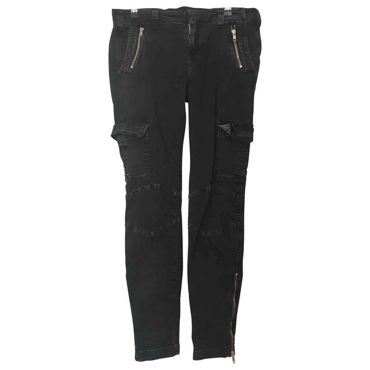 J Brand \N Black Cotton Trousers for Women 8 US