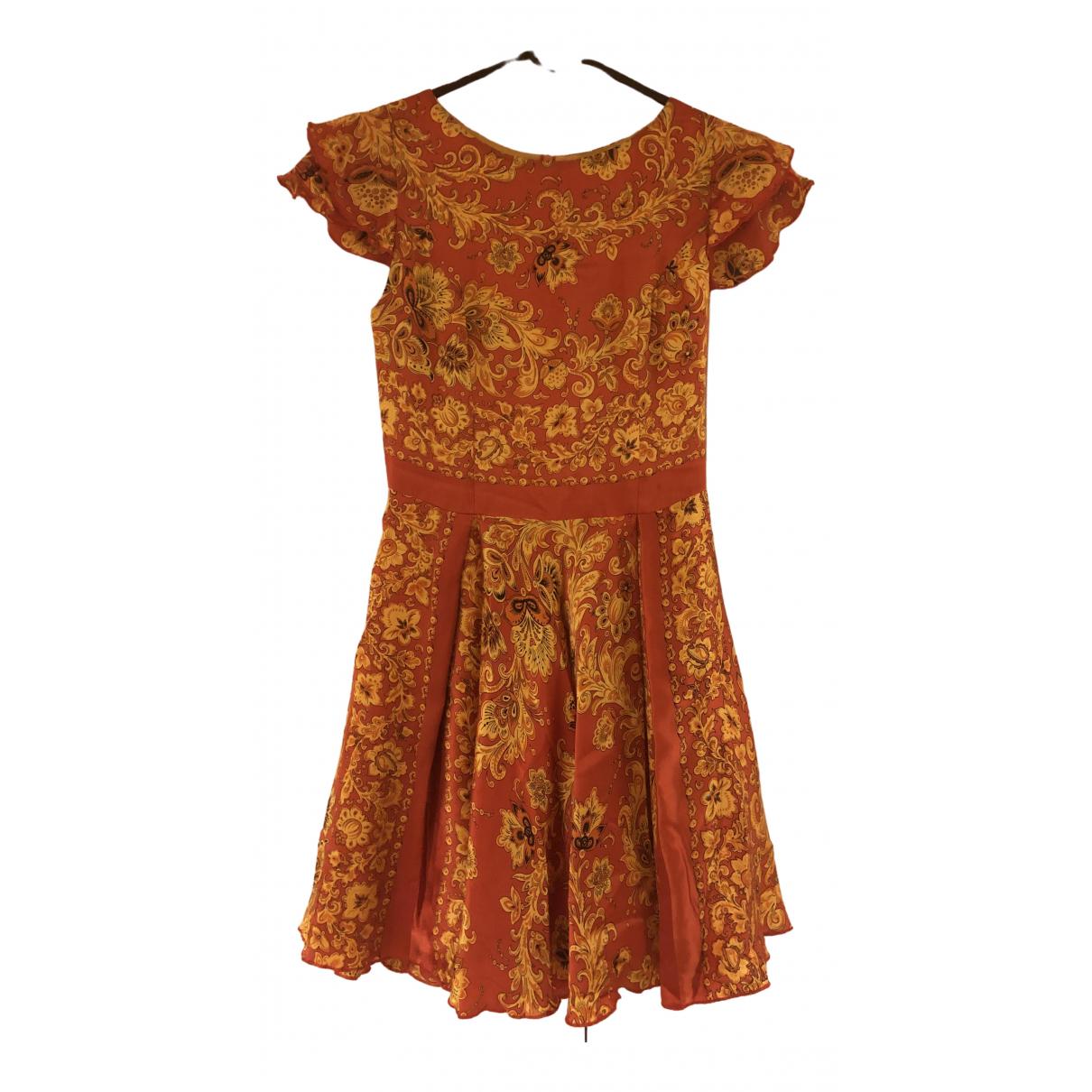 Non Signé / Unsigned \N Multicolour Silk dress for Women 34 FR