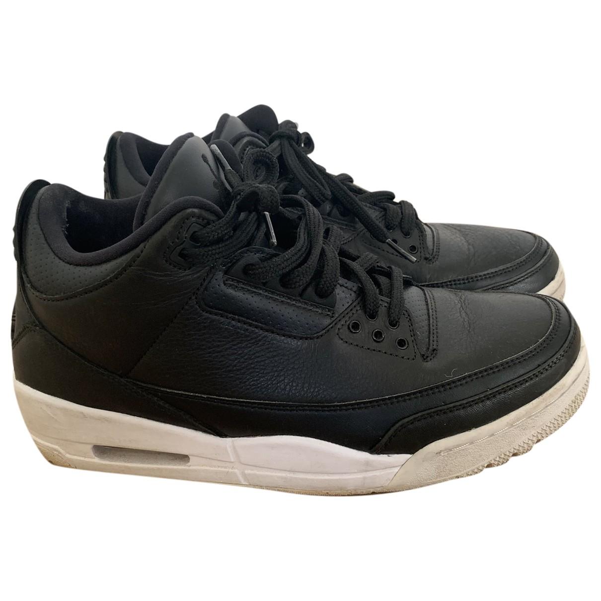 Jordan Air Jordan 4 Sneakers in  Schwarz Leder