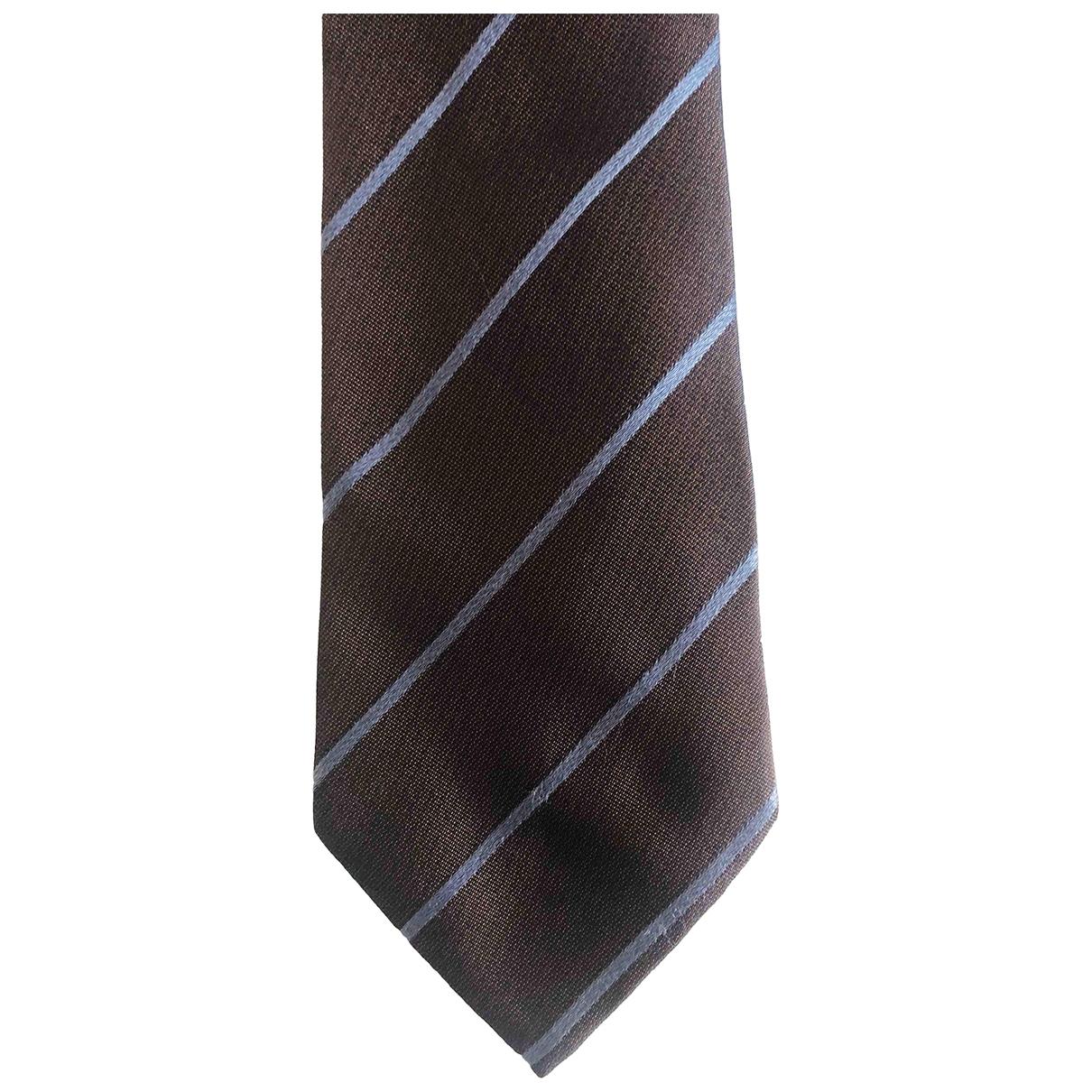 Loewe - Cravates   pour homme en soie - marron