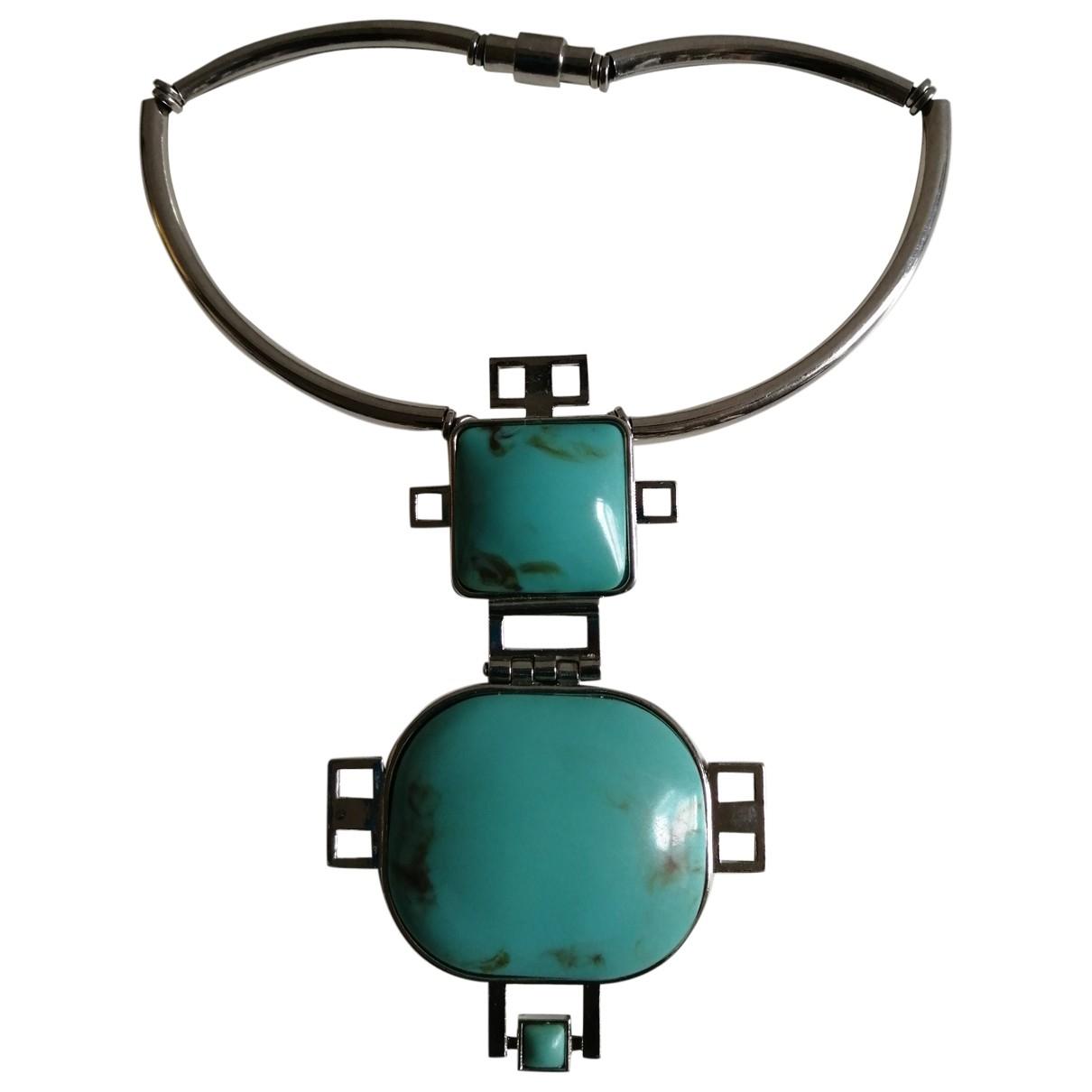 Non Signe / Unsigned Turquoises Kette Bunt