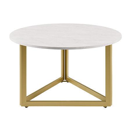 Walker Edison Modern Coffee Table, One Size , White