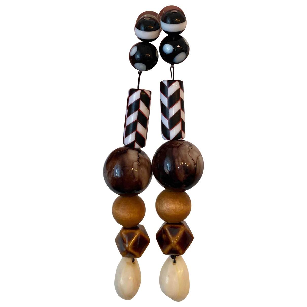 - Boucles doreilles   pour femme en ceramique - multicolore