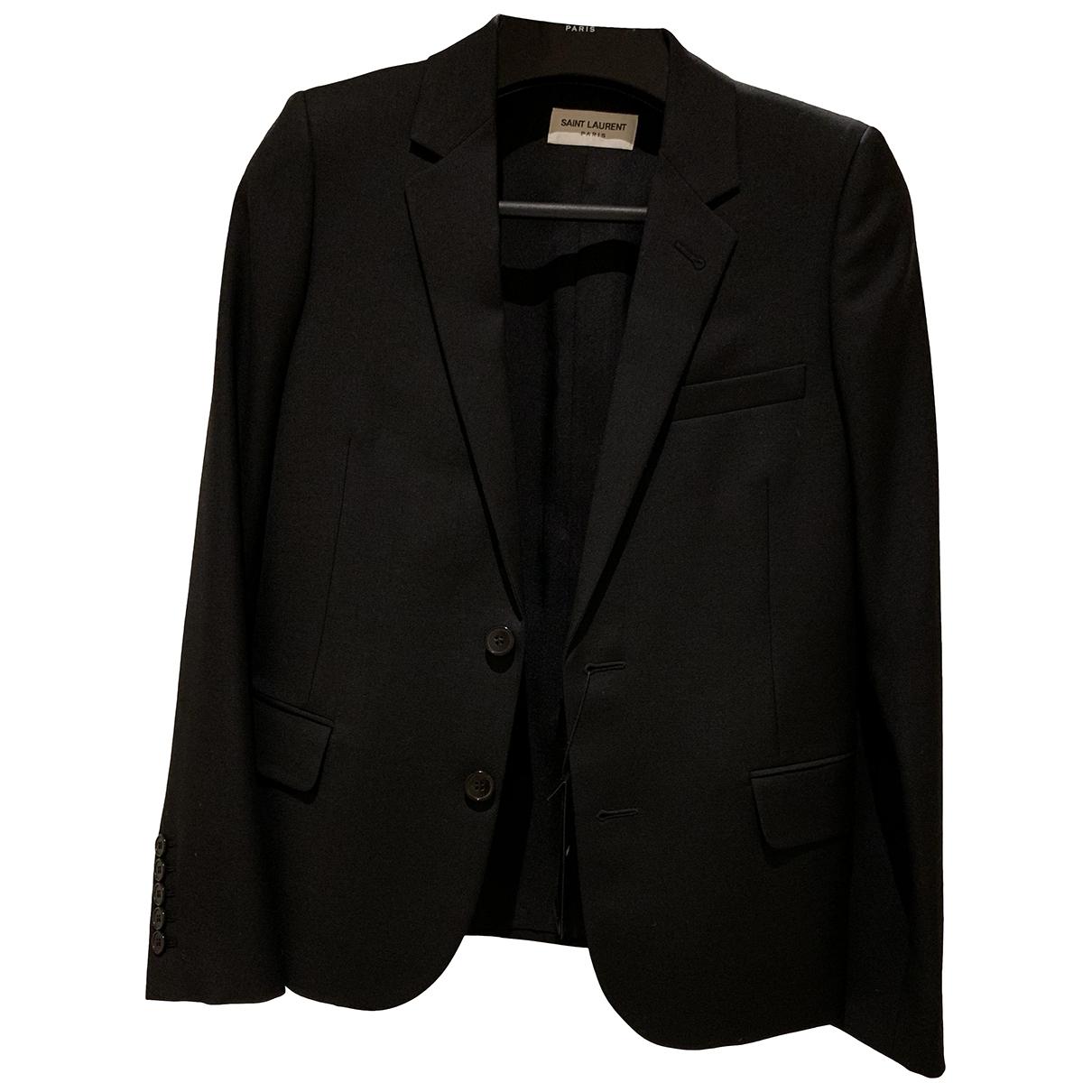 Saint Laurent \N Black Wool jacket for Women 34 FR