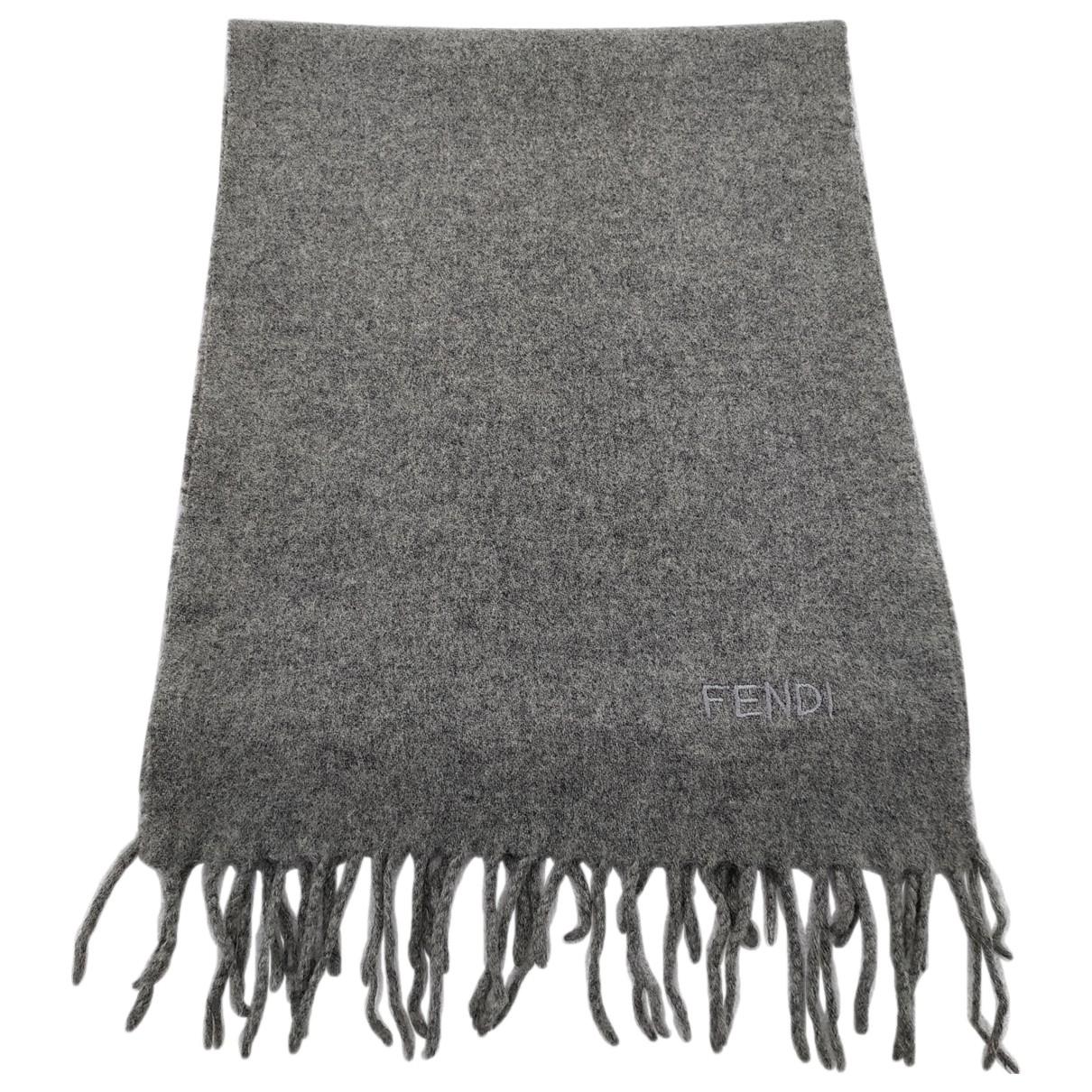 Fendi - Foulard   pour femme en laine - gris