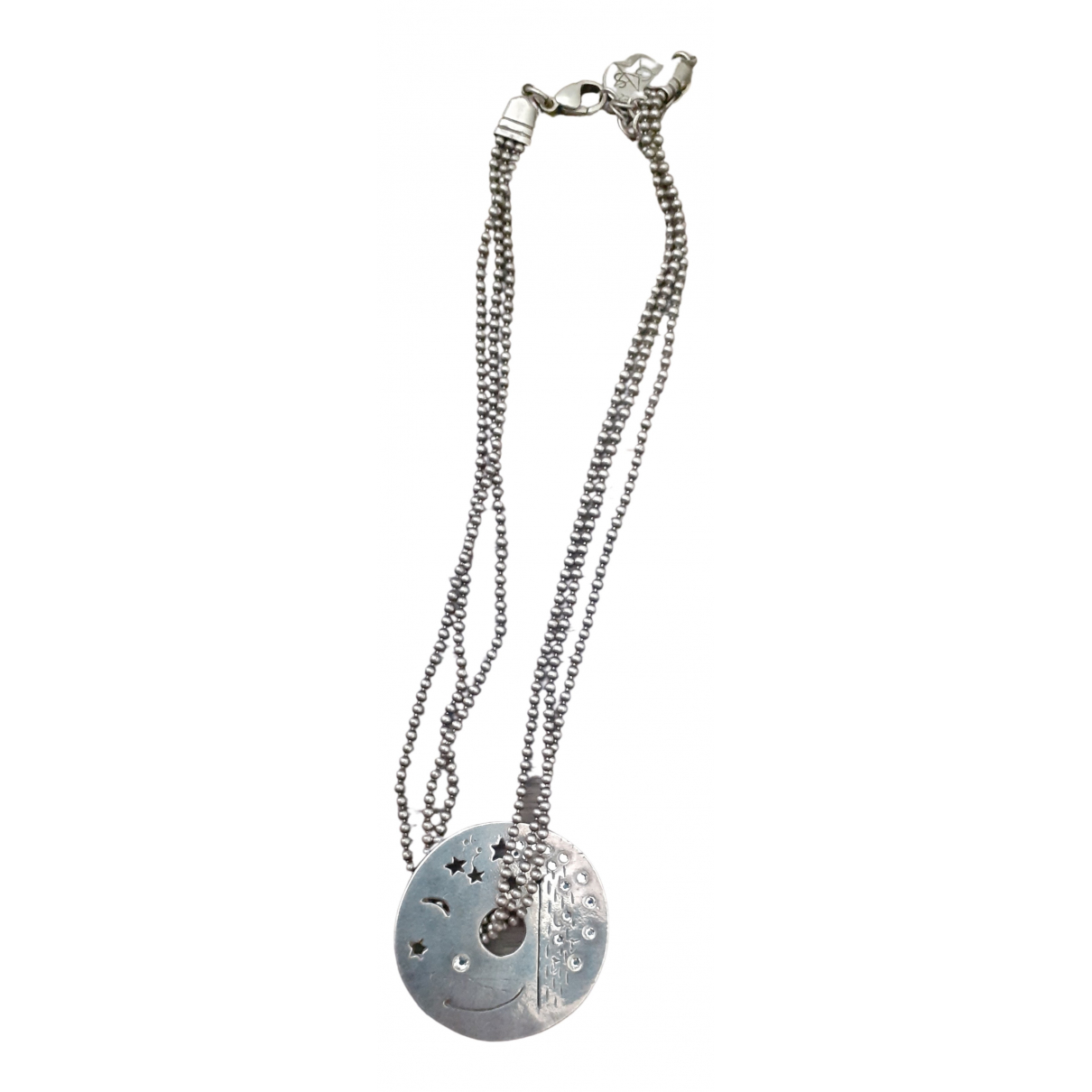 Gas \N Kette in  Silber Metall