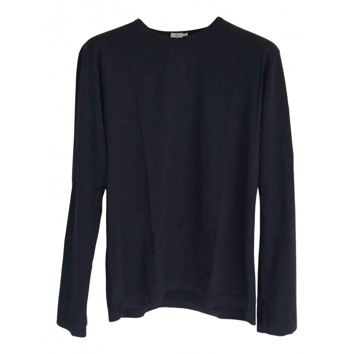 Sunspel - Tee shirts   pour homme en coton - noir