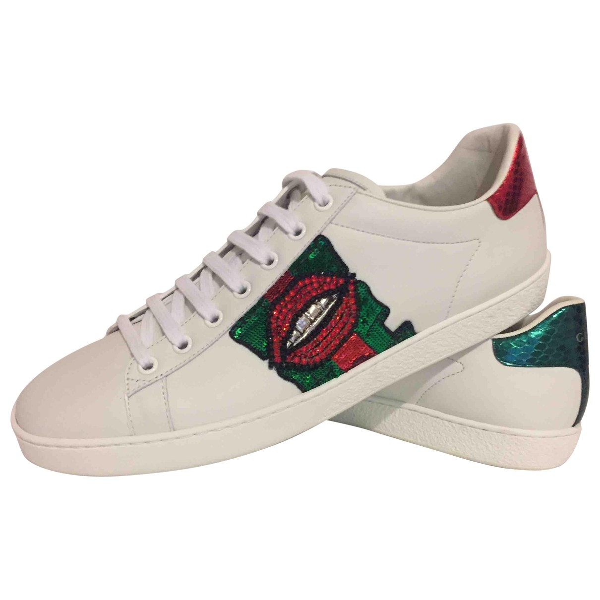 Gucci Ace White Leather Trainers for Women 42 EU