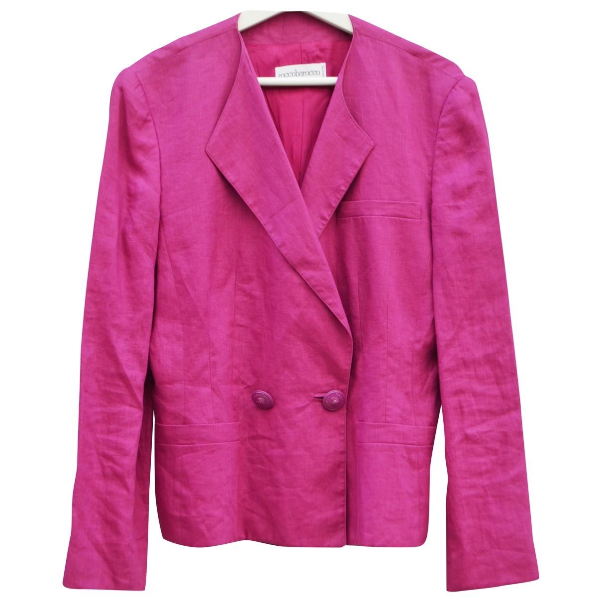 - Veste   pour femme en lin - violet