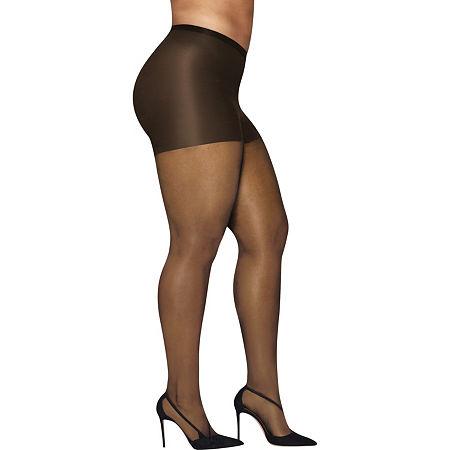 Hanes Silky Sheer Tights-Plus, 3x-4x , Beige