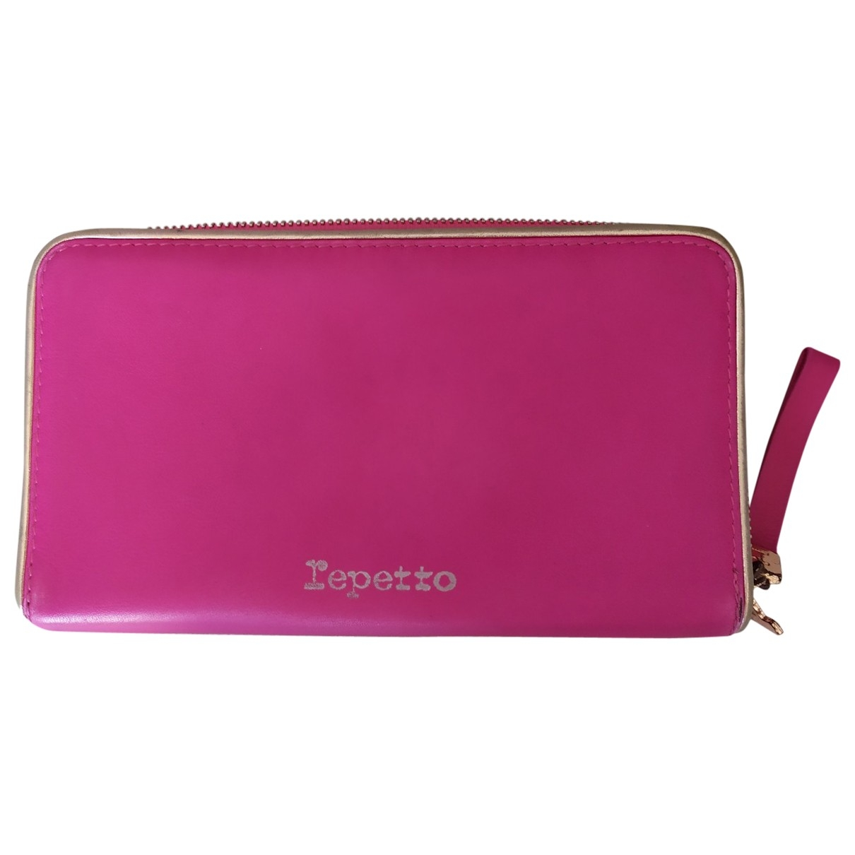 Repetto - Portefeuille   pour femme en cuir - rose