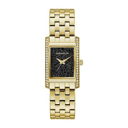 Caravelle Designed By Bulova Womens Gold Tone Stainless Steel Bracelet Watch-44l253, One Size , No Color Family