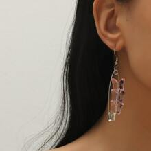Safety Pin Design Drop Earrings