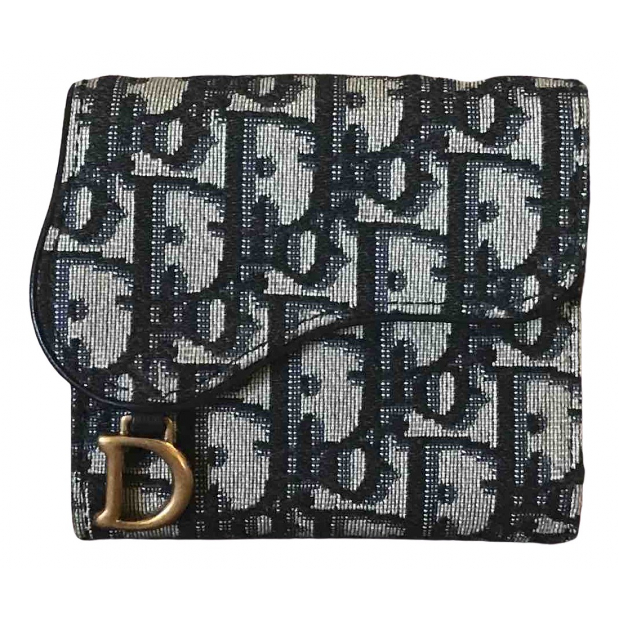 Dior Saddle Navy Cloth wallet for Women \N