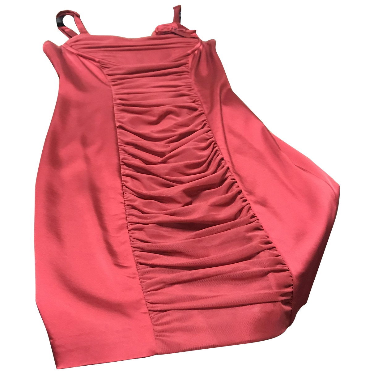 Max Azria \N Kleid in  Rot Polyester
