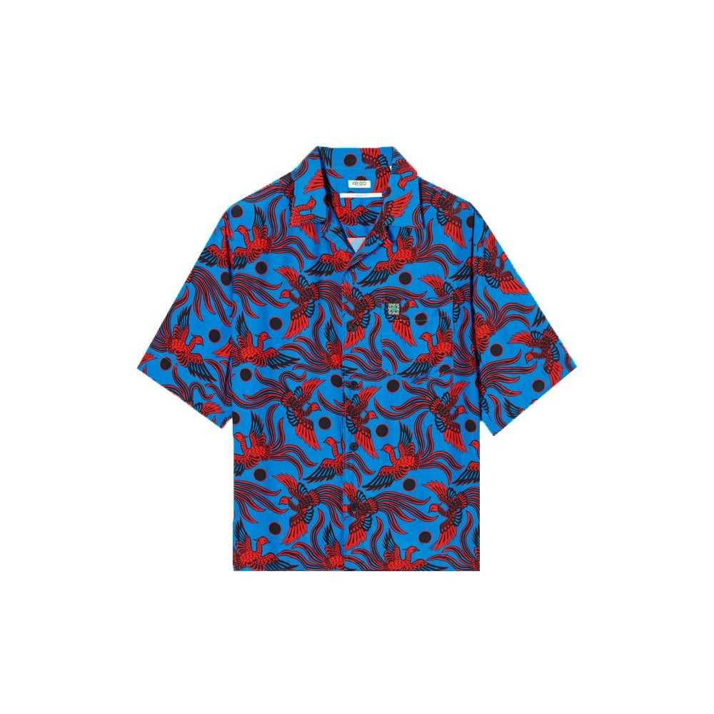 Kenzo Flying Phoenix Shirt Colour: COBALT, Size: MEDIUM