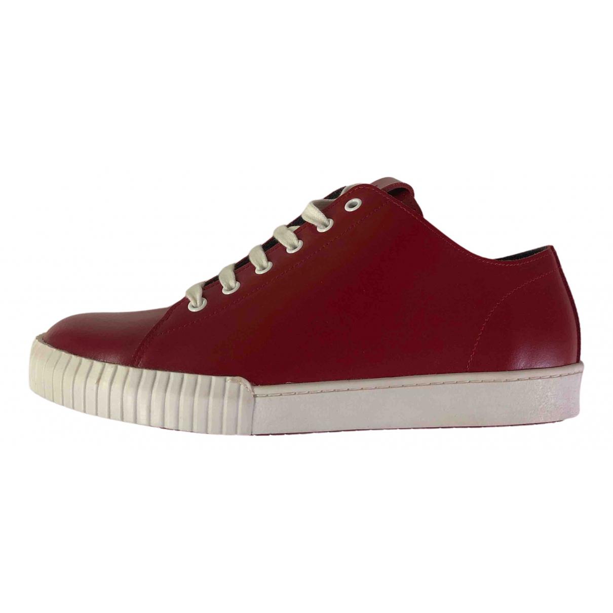 Marni - Baskets   pour homme en cuir - rouge