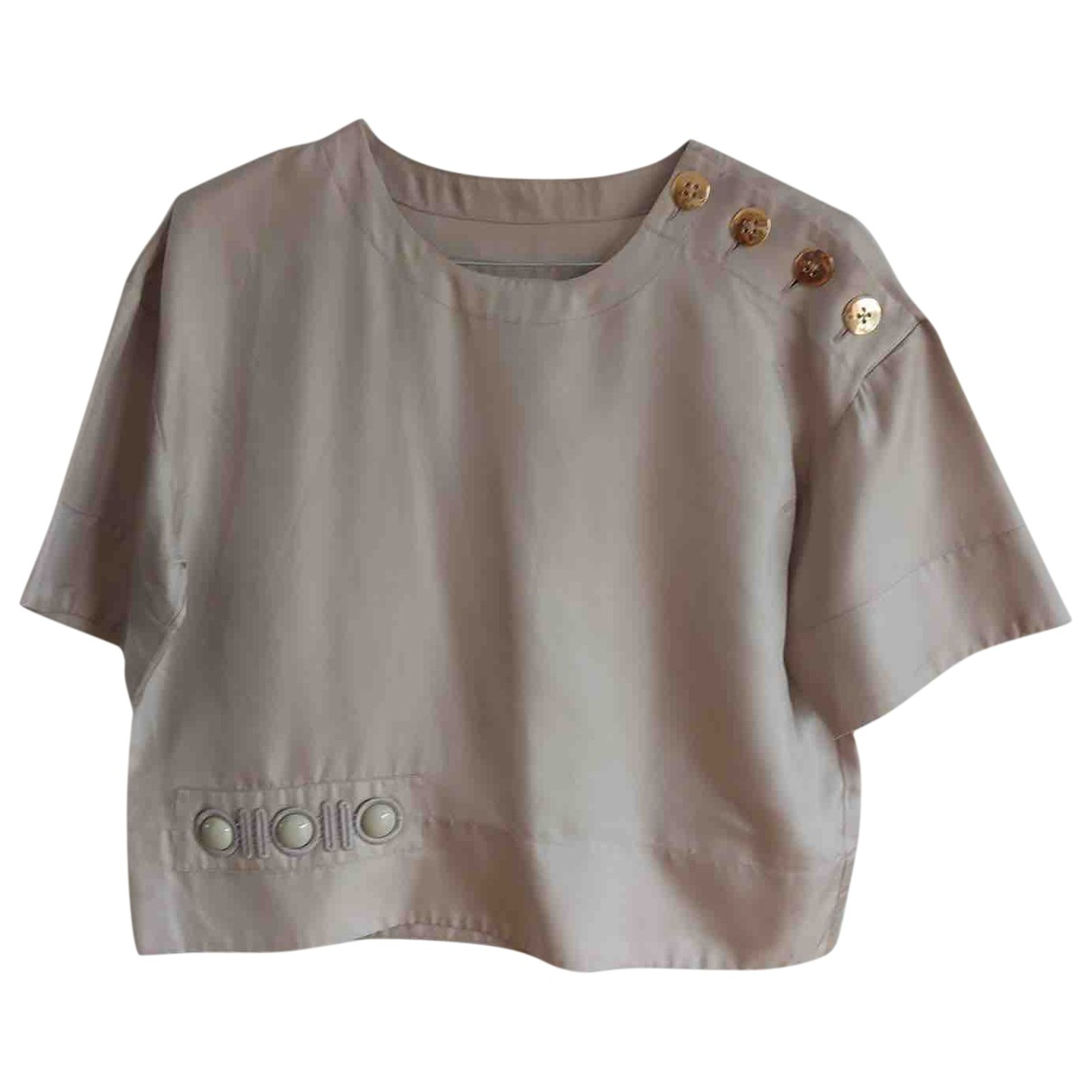 Marc Jacobs N Grey Silk  top for Women 2 US