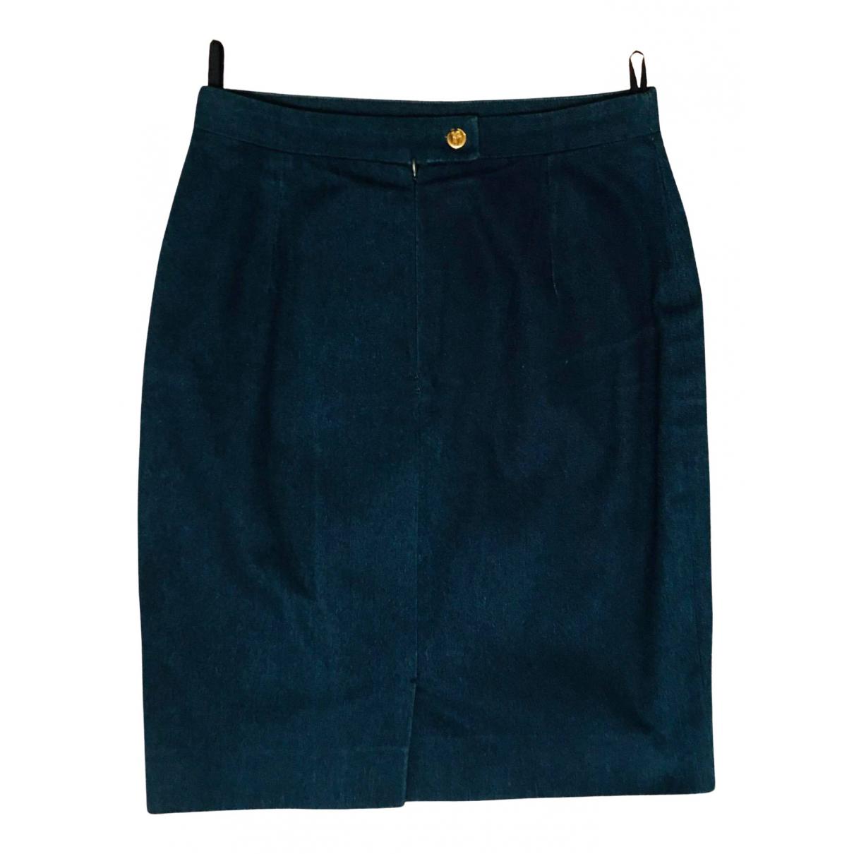 Burberry - Jupe   pour femme en denim - bleu