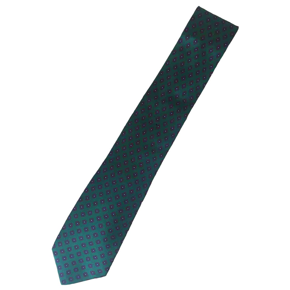 Burberry - Cravates   pour homme en soie - vert