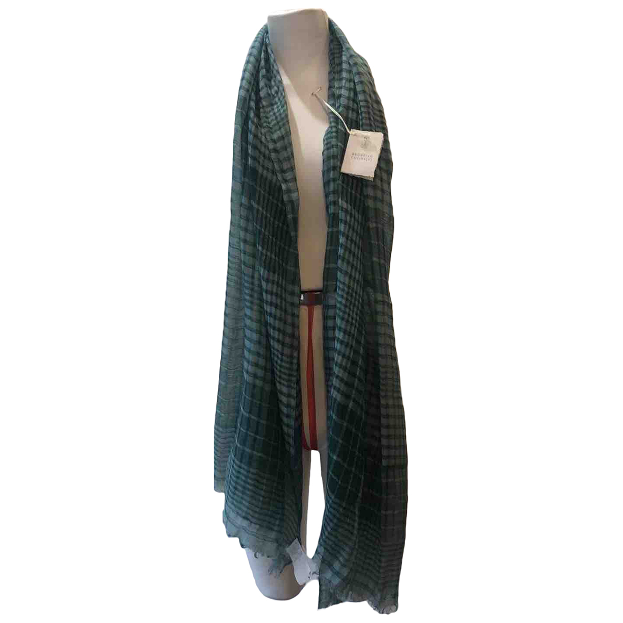 Brunello Cucinelli N Green Cashmere scarf & pocket squares for Men N