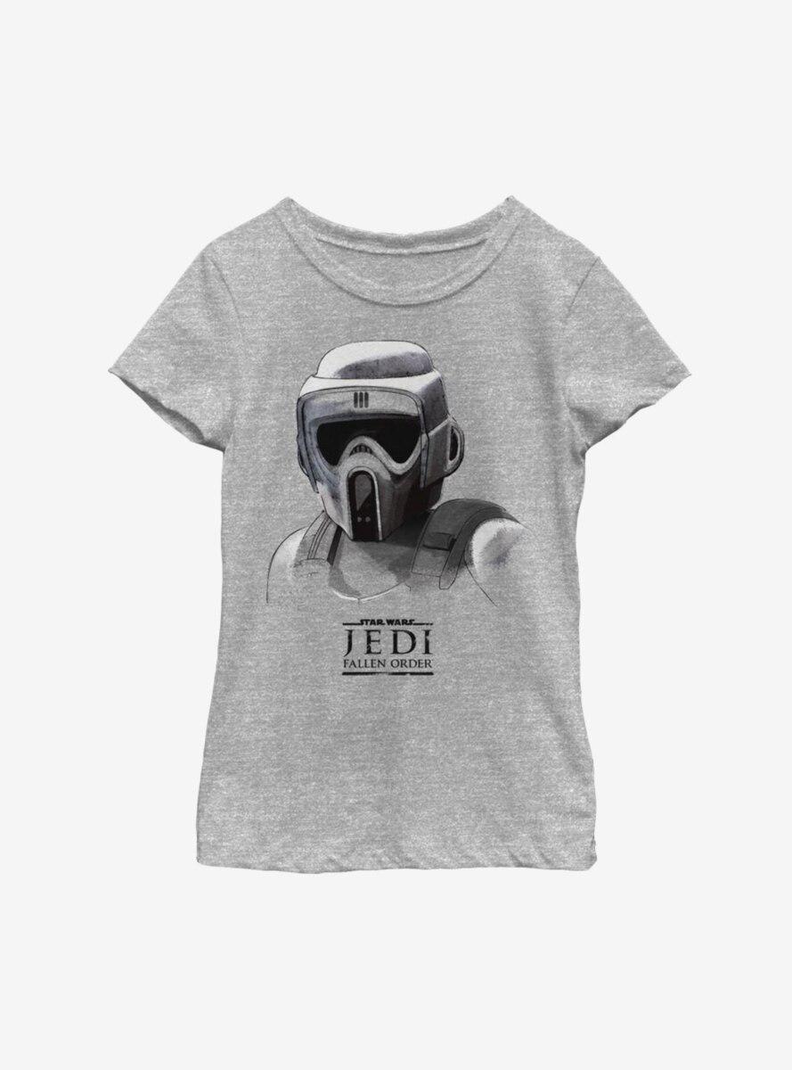 Star Wars Jedi Fallen Order Scout Trooper Mask Youth Girls T-Shirt