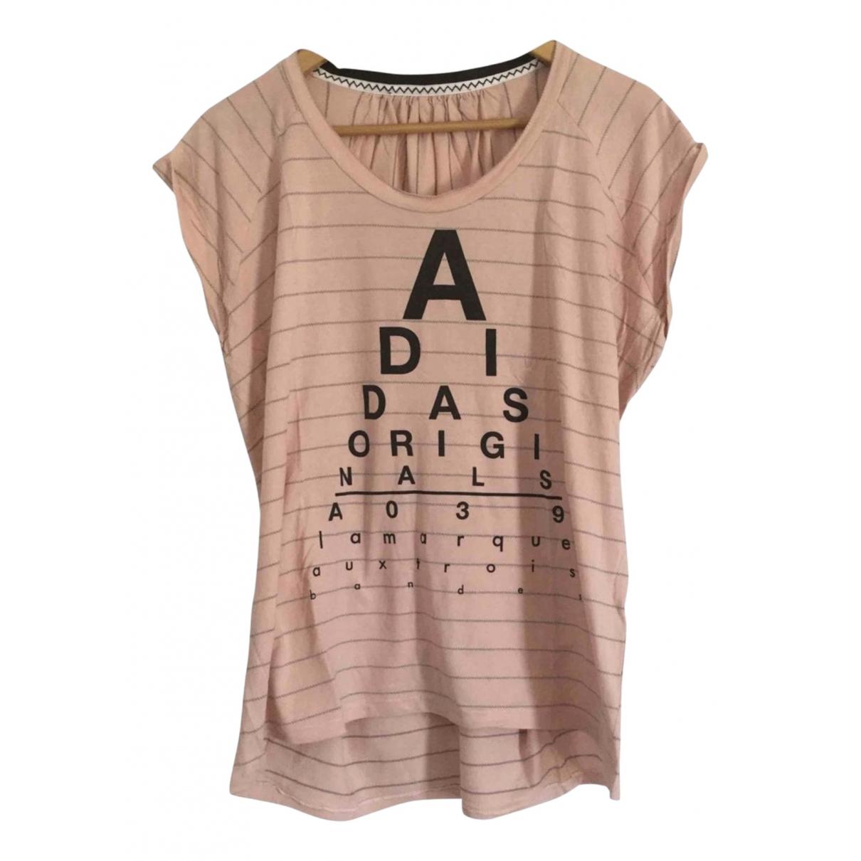 Adidas - Top   pour femme en coton - rose