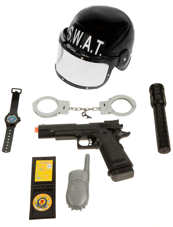 Kostuemzubehor SWAT Set Kinder 7-tlg. Farbe: schwarz