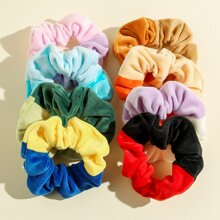 8pcs Color Block Scrunchie