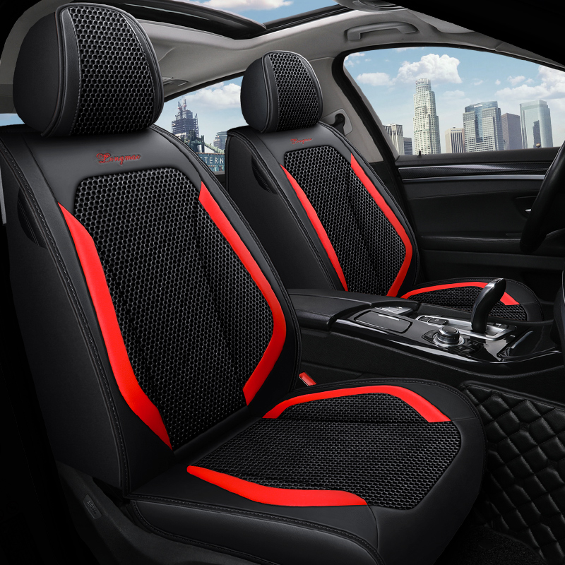 Wear-resistant PU Leather & Breathable Fabrics Wear-resisting Scratch No Peculiar Smell Fresh Breathable Not Stuffy Airbag Compatible 5-seater Univer