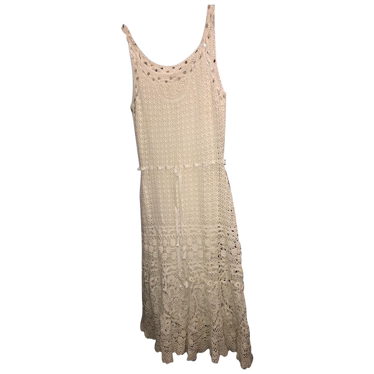 Laurel \N Ecru Cotton dress for Women 36 FR
